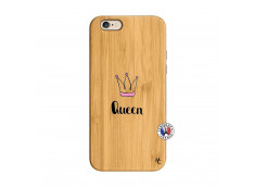 Coque iPhone 6/6S Queen Bois Bamboo