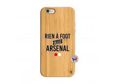 Coque iPhone 6/6S Rien A Foot Allez Arsenal Bois Bamboo
