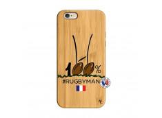 Coque iPhone 6/6S 100 % Rugbyman Entre les Poteaux Bois Bamboo