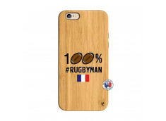 Coque iPhone 6/6S 100% Rugbyman Bois Bamboo