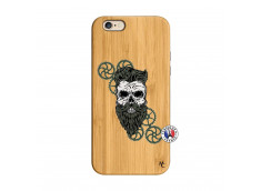 Coque iPhone 6/6S Skull Hipster Bois Bamboo