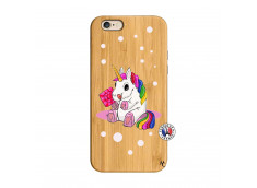 Coque iPhone 6/6S Sweet Baby Licorne Bois Bamboo