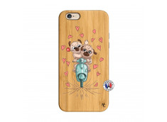 Coque iPhone 6/6S Puppies Love Bois Bamboo