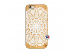 Coque iPhone 6/6S White Mandala Bois Bamboo