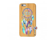 Coque iPhone 6Plus/6S Plus Blue Painted Dreamcatcher Bois Bamboo