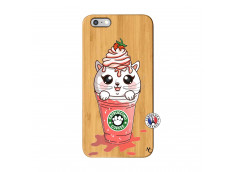 Coque Bois iPhone 6Plus/6S Plus Catpucino Ice Cream Smoothie