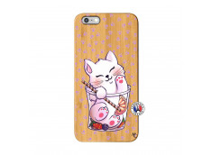 Coque Bois iPhone 6Plus/6S Plus Smoothie Cat