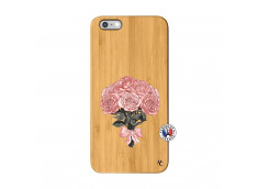 Coque iPhone 6Plus/6S Plus Bouquet de Roses Bois Bamboo