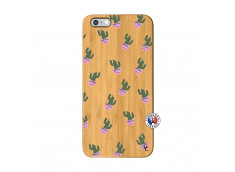 Coque iPhone 6Plus/6S Plus Cactus Pattern Bois Bamboo