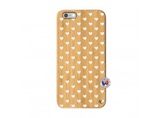 Coque iPhone 6Plus/6S Plus Little Hearts Bois Bamboo