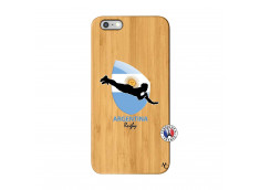 Coque iPhone 6Plus/6S Plus Coupe du Monde Rugby-Argentine Bois Bamboo
