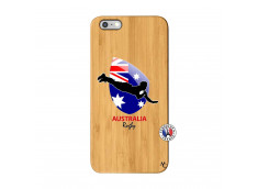 Coque iPhone 6Plus/6S Plus Coupe du Monde Rugby-Australia Bois Bamboo