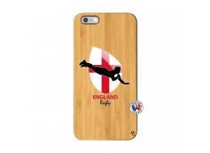 Coque iPhone 6Plus/6S Plus Coupe du Monde Rugby-England Bois Bamboo