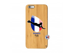 Coque iPhone 6Plus/6S Plus Coupe du Monde de Rugby-France Bois Bamboo
