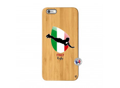 Coque iPhone 6Plus/6S Plus Coupe du Monde Rugby-Italy Bois Bamboo