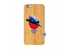 Coque iPhone 6Plus/6S Plus Coupe du Monde Rugby-Samoa Bois Bamboo