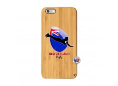 Coque iPhone 6Plus/6S Plus Coupe du Monde Rugby- Nouvelle Zélande Bois Bamboo