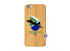 Coque iPhone 6Plus/6S Plus Coupe du Monde Rugby-South Africa Bois Bamboo