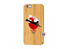 Coque iPhone 6Plus/6S Plus Coupe du Monde Rugby-Tonga Bois Bamboo