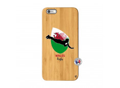 Coque iPhone 6Plus/6S Plus Coupe du Monde Rugby-Walles Bois Bamboo