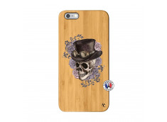 Coque iPhone 6Plus/6S Plus Dandy Skull Bois Bamboo