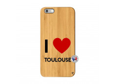 Coque iPhone 6Plus/6S Plus I Love Toulouse Bois Bamboo
