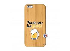 Coque iPhone 6Plus/6S Plus Jamais Sans Ma Blonde Bois Bamboo