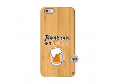 Coque iPhone 6Plus/6S Plus Jamais Sans Ma Rousse Bois Bamboo