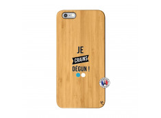 Coque iPhone 6Plus/6S Plus Je Crains Degun Bois Bamboo