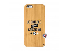 Coque iPhone 6Plus/6S Plus Je Dribble Comme Cristiano Bois Bamboo