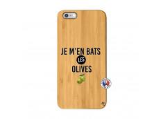 Coque iPhone 6Plus/6S Plus Je M En Bas Les Olives Bois Bamboo