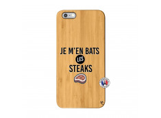 Coque iPhone 6Plus/6S Plus Je M En Bas Les Steaks Bois Bamboo