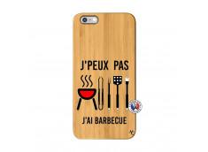 Coque Bois iPhone 6Plus/6S Plus Je Peux Pas J Ai Barbecue