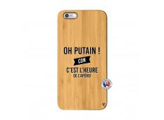 Coque iPhone 6Plus/6S Plus Oh Putain C Est L Heure De L Apero Bois Bamboo