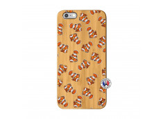 Coque iPhone 6Plus/6S Plus Petits Poissons Clown Bois Bamboo