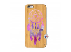 Coque iPhone 6Plus/6S Plus Purple Dreamcatcher Bois Bamboo
