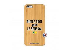 Coque iPhone 6Plus/6S Plus Rien A Foot Allez Le Senegal Bois Bamboo