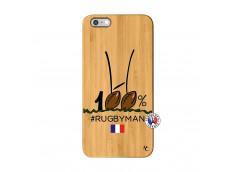 Coque iPhone 6Plus/6S Plus 100 % Rugbyman Entre les Poteaux Bois Bamboo