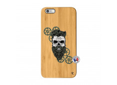 Coque iPhone 6Plus/6S Plus Skull Hipster Bois Bamboo