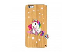 Coque iPhone 6Plus/6S Plus Sweet Baby Licorne Bois Bamboo