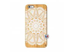 Coque iPhone 6Plus/6S Plus White Mandala Bois Bamboo