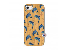 Coque Bois iPhone 7/8 Dauphins
