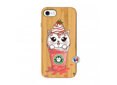 Coque Bois iPhone 7/8 Catpucino Ice Cream Smoothie