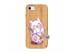 Coque Bois iPhone 7/8 Smoothie Cat