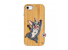 Coque iPhone 7/8 Dog Impact Bois Bamboo