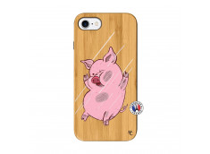 Coque iPhone 7/8 Pig Impact Bois Bamboo