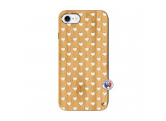 Coque iPhone 7/8 Little Hearts Bois Bamboo