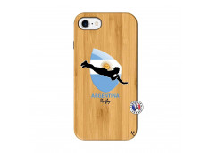Coque iPhone 7/8 Coupe du Monde Rugby-Argentine Bois Bamboo
