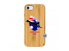 Coque iPhone 7/8 Coupe du Monde Rugby-Australia Bois Bamboo