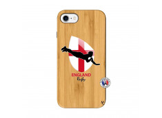 Coque iPhone 7/8 Coupe du Monde Rugby-England Bois Bamboo